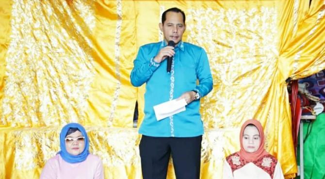 Wakil Walikota Solok, Reinier membuka pelatihan Sulaman Pita yang digagas Perwati kota Solok