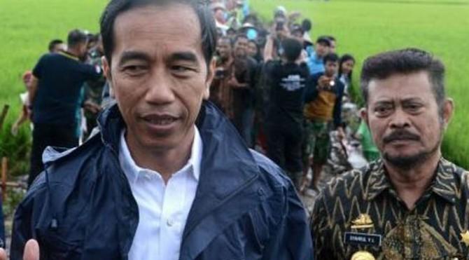 Syahrul Yasin Limpo saat mendampingi Presiden Jokowi.