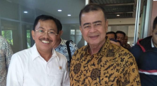 Menteri Kesehatan RI Terawan Agus Putranto dan Wagub Sumbar Nasrul Abit