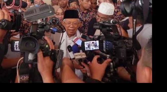 Calon Wakil Presiden nomor urut 01 Ma'ruf Amin