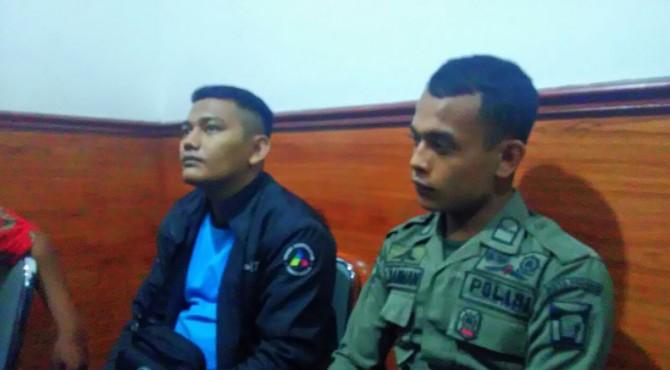Randi Pangeran (Trans 7) dan Satpol PP Padang melaporkan kepada polisi peristiwa pengancaman oleh sekurity tempat hiburan malam Juliet.