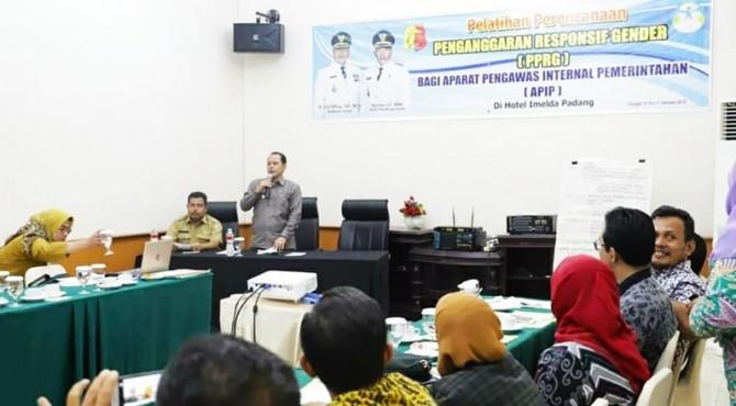 Wawako Solok Reinier membuka pelatihan pengawasan PPRG bagi auditor APIP