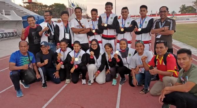 Atlet atletik Sumbar di Porwil 2019 Bengkulu