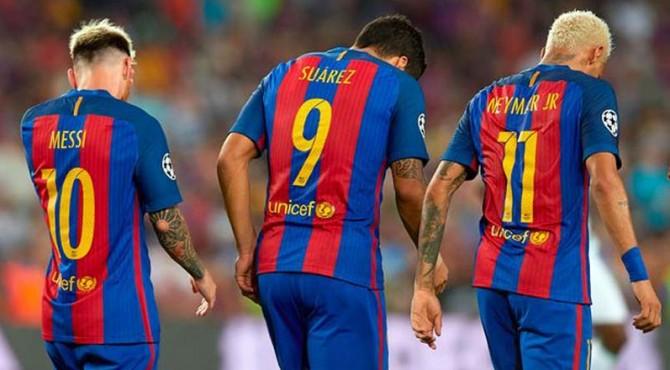 Trio MSN (Messi, Suarex, Neymar).