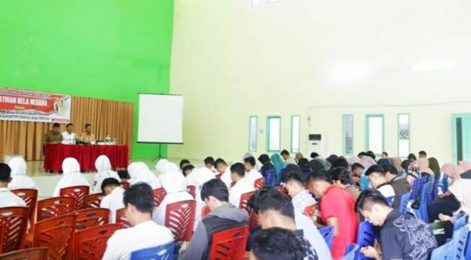 Ratusan Generasi Muda Kota Solok Ikuti Pelatihan Bela Negara.