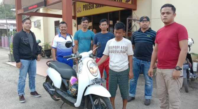 Tersangka maling motor di Solok ditangkap di Sawahlunto