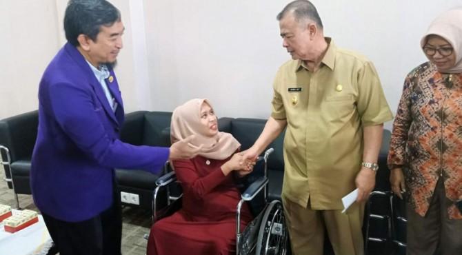 drg. Romi bertemu dengan Wagub Sumbar, Selasa, 6 Agustus 2019 di kantor gubernur.