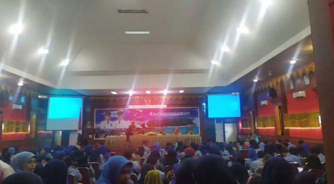 Pertemuan kader PKB se-Sumbar di kantor Balaikota Pariaman, Sabtu (14/12).