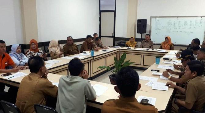 Rapat TPID Pemko Payakumbuh jelang dilaksanakannya bazar murah.