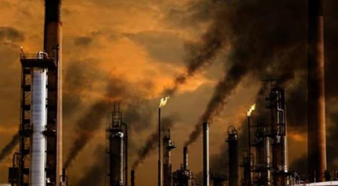 Ilustrasi emisi karbon dioksida dari industri
