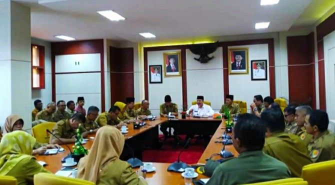Walikota Solok Zul Elfian dan Wawako Reinier evaluasi persiapan MTQ.
