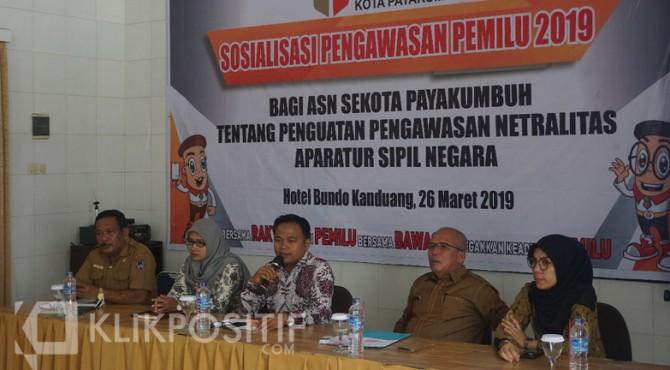 Salah satu kegiatan sosialisasi yang sempat dilakukan Bawaslu Payakumbuh.