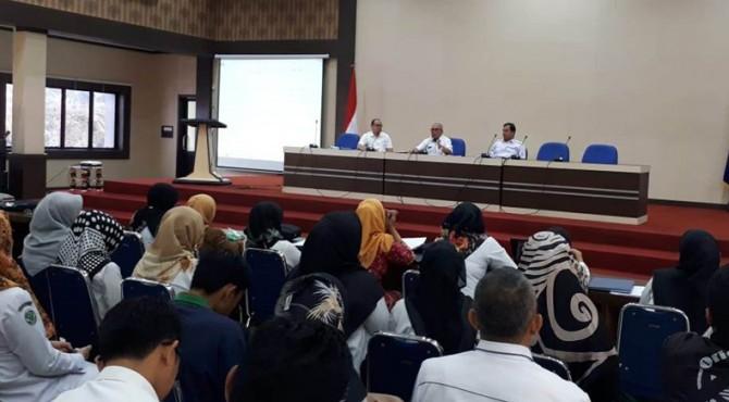 Rapat Laporan Hasil Pemeriksaan BPK RI terhadap LPKD tahun anggaran 2018.