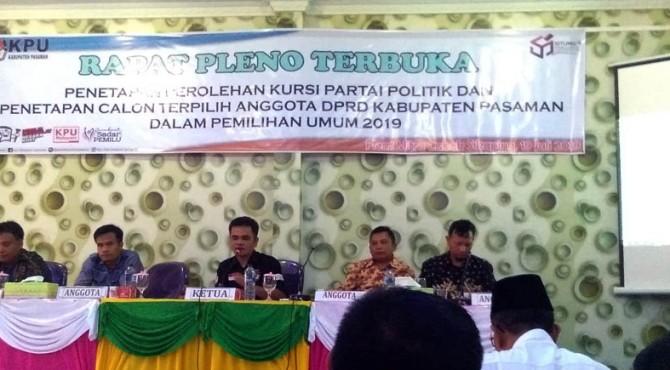 Rapat Pleno terbuka KPU Pasaman