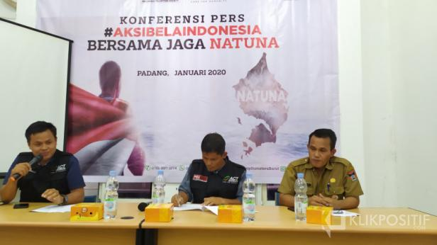 Konferensi pers ACT bersama Pemko Padang bahas Aksi Bela Indonesia, Bersama Jaga Natuna