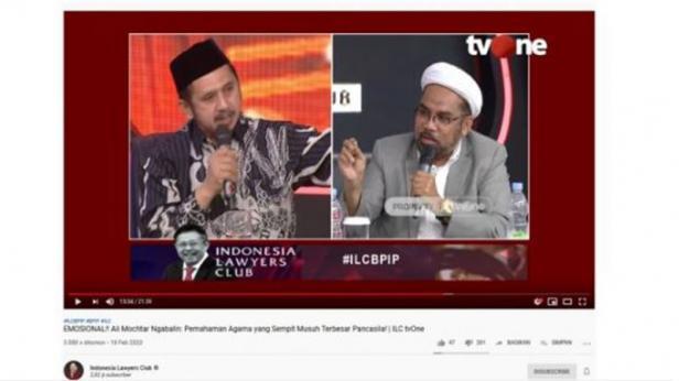 Zaitun Rasmin dan Ali Mochtar Ngabalin berdebat di ILC TV One