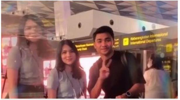 Asnawi Mangkualam diantar aktris cantik, Davina Karamoy ke Bandara saat ingin terbang ke Korea Selatan.