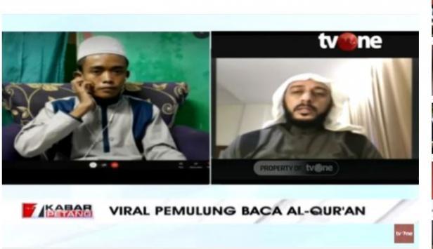 Syekh Ali Jaber Jadikan Akbar, Pemulung yang Baca Alquran di Jalan Jadi Anak Angkat