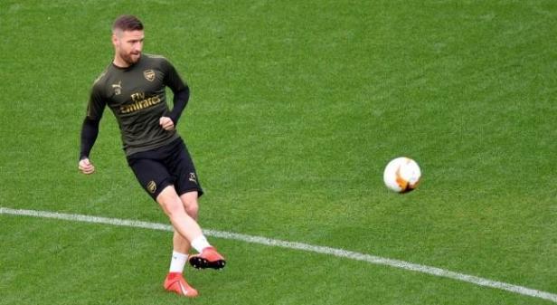Pemain belakang Arsenal Shkodran Mustafi