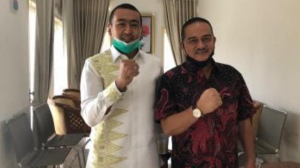 Audy Joinaldy Calon Wakil Gubernur Sumbar melakukan kunjungan dan silaturahmi dengan Ismael Koto, calon Walikota Solok, Selasa (22/9).