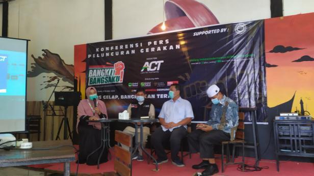 ACT Padang melakukan peluncuran program Gerakan Bangkit Bangsaku