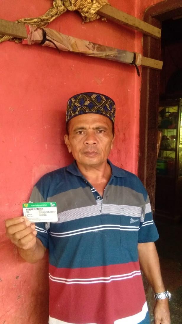 Slaah satu peserta JKN-KIS asal Pasaman, Aspiwija (47 tahun)