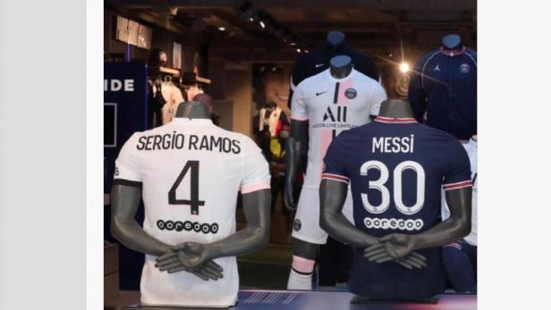 jersey pemain baru PSG messi dan ramos