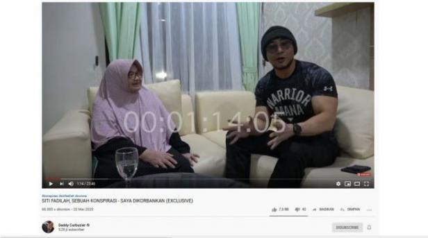Siti Fadilah daam video podcast Deddy Corbuzier