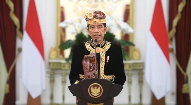 Presiden Jokowi membuka Pesta Kesenian Bali ke-43, secara virtual, Sabtu (12/06/2021)