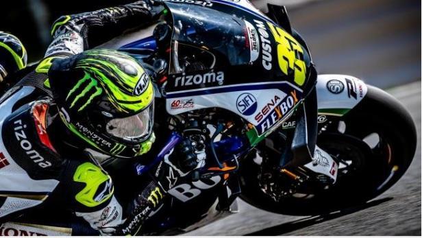 Cal Crutchlow saat menjalani MotoGP Brno
