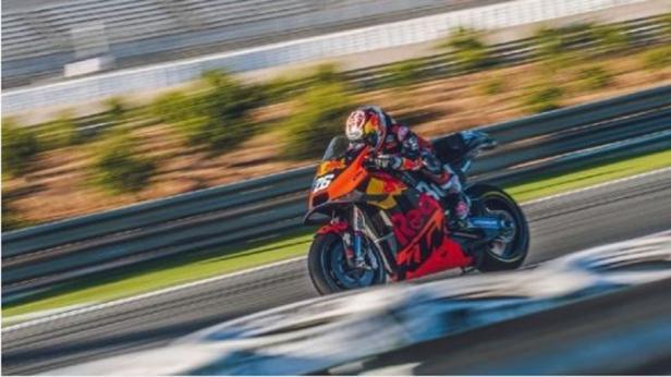 Mantan pebalap MotoGP yang kini menjadi pebalap penguji KTM, Dani Pedrosa.