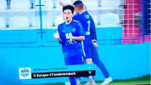 Witan Sulaeman saat menjalani debut bersama FK Radnik Surdulica di Super Liga Serbia