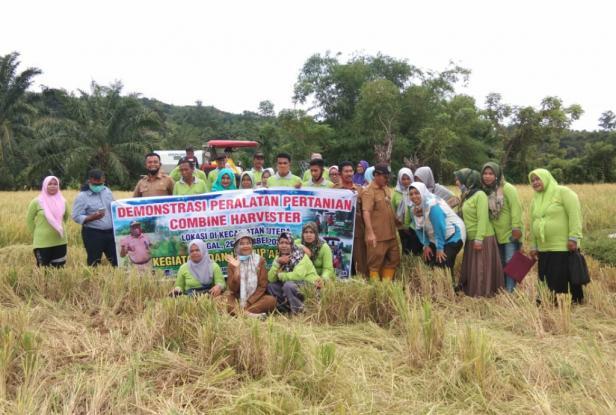 Demo Alsintan UPJA di Gapoktan Batang Timbulun Taratak