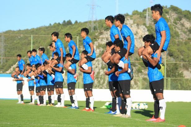 Latihan Timnas Indonesia U-19