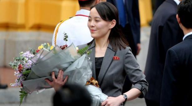 Adik perempuan pemimpin Korea Utara Kim Jong Un, Kim Yo Jong, dalam sebuah acara