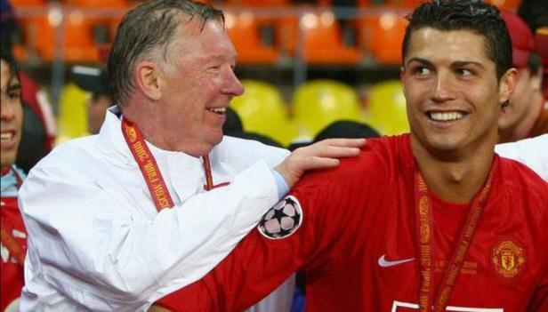 Mantan pelatih Manchester United Sir Alex Ferguson dan CR7