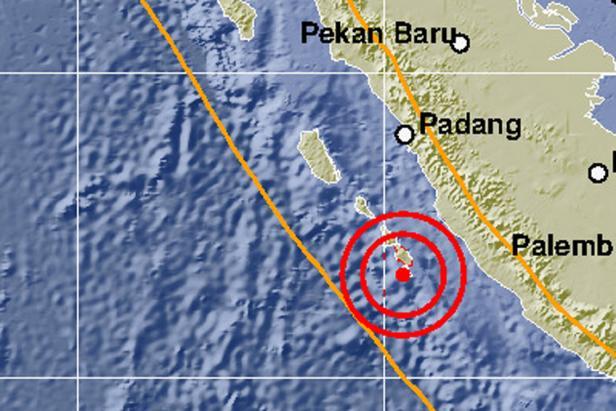 Peta lokasi gempa pukul 14.31 WIB, Senin (19/10/2020)