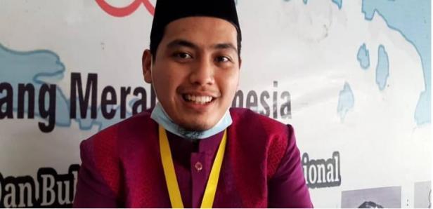 Muhammad Sulthon (23) peserta lomba Tafisr Bahasa Arab Kafilah Sumbar pada Muasabaqah Tilawatil Quran (MTQ) Nasional XXVIII.