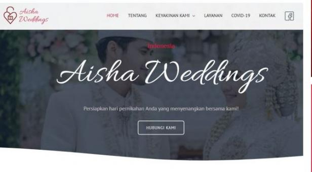 Wedding organizer Aisha Weddings atau WO Aisha Weddings sediakan paket poligami sampai nikah siri.