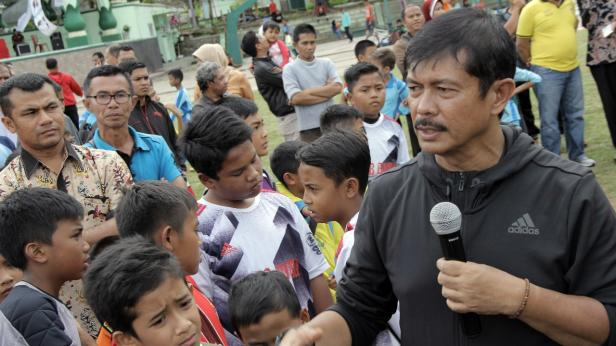 Asisten Pelatih Timnas Indonesia Indra Sjafri