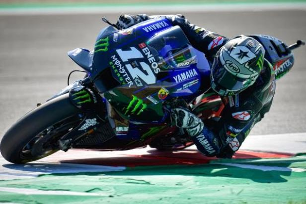 Pebalap tim Monster Energy Yamaha Maverick Vinales