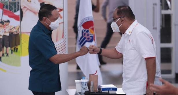 Menteri Pemuda dan Olahraga Republik Indonesia (Menpora RI) Zainudin Amali memimpin Rapat Koordinasi (Rakor) terkait persiapan Pekan Olahraga Nasional (PON) XX Papua di Auditorium Wisma Kemenpora