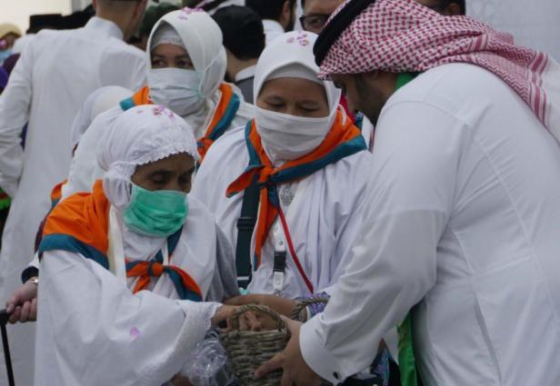 Jemaah haji Indonesia saat tiba di Arab Saudi, pada musim haji 1440H/2019M, 7 Juli 2019.