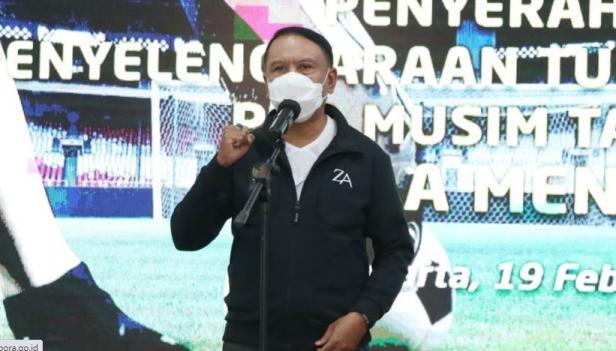 Menteri Pemuda dan Olahraga (Menpora), Zainudin Amali