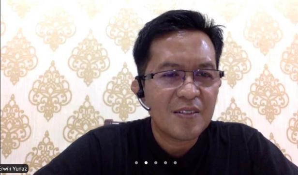 Wawako Payakumbuh, Erwin Yunaz saat melakukan isolasi mandiri.