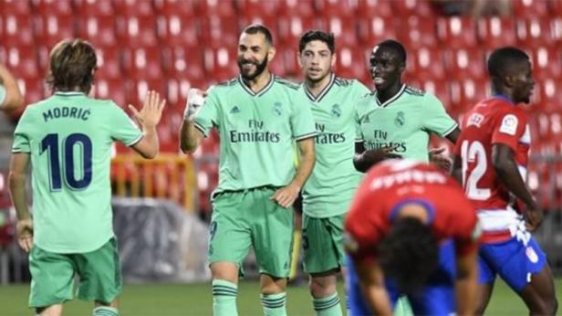 Striker Karim Benzema mencetak gol kemenangan Real Madrid atas Granada di laga lanjutan Liga Spanyol pekan ke-36, Selasa (14/7/2020) dini hari WIB.
