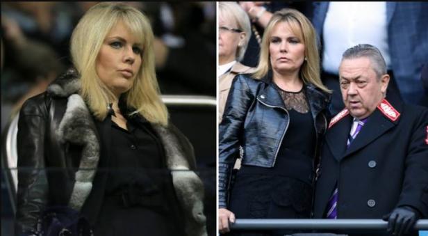 Emma Benton-Hughes dan presiden West Ham United, David Sullivan