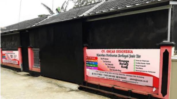 Konveksi Tas Oscas yang berlokasi di Bandung