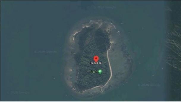 Tanda SOS di Pulau Laki