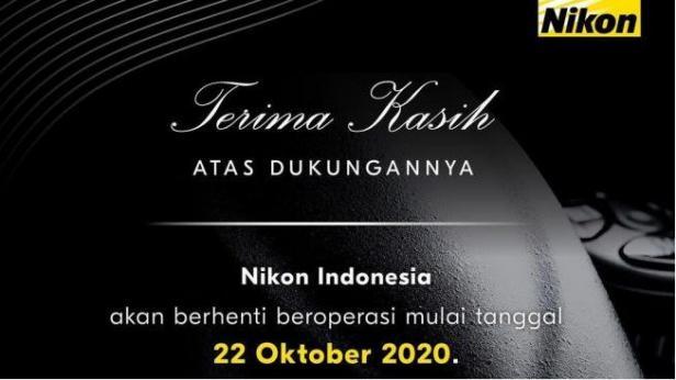 Nikon Indonesia pamit.